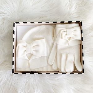 Kate Spade Beanie & Glove Set, New